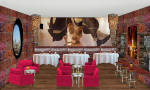 Great Design and color...truly a top restaurant in our Dream Hotel!